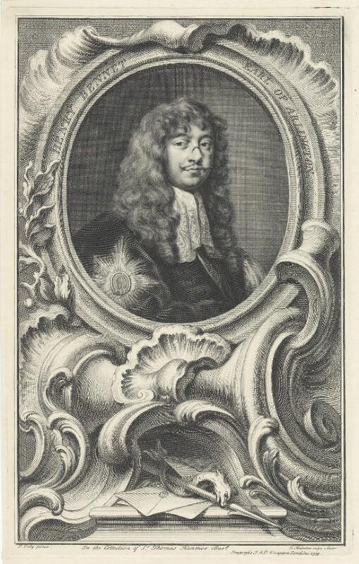Henry Bennet, 1st Earl of Arlington, by Jacobus Houbraken, after  Sir Peter Lely, published by  John & Paul Knapton, 1739 - NPG D29369 - © National Portrait Gallery, London