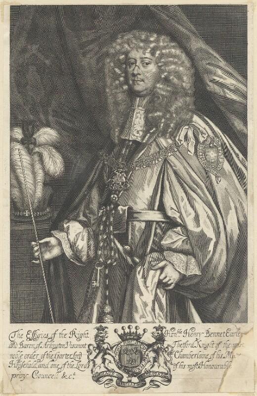 Henry Bennet, 1st Earl of Arlington, after Sir Peter Lely, published 1679 - NPG D29370 - © National Portrait Gallery, London