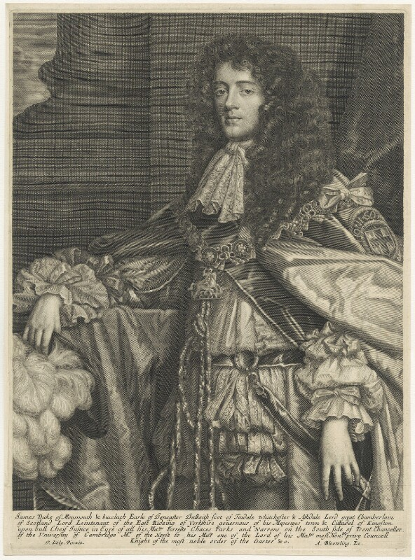 James Scott, Duke of Monmouth and Buccleuch, published by Abraham Blooteling (Bloteling), after  Sir Peter Lely, circa 1680 - NPG D29392 - © National Portrait Gallery, London