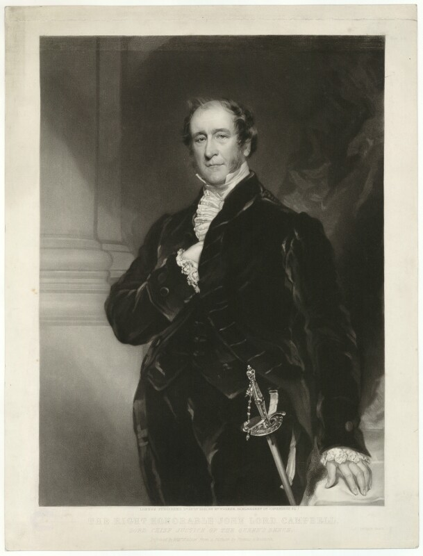 John Campbell, 1st Baron Campbell of St Andrews, by William Walker, after  Thomas Woolnoth, published 1851 - NPG D32562 - © National Portrait Gallery, London