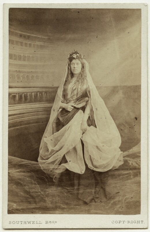 Cicely Nott (Sarah Ann Adams (née Harris)) as Miscrima in 'Manfred', by Southwell Brothers, 1863 - NPG x19173 - © National Portrait Gallery, London