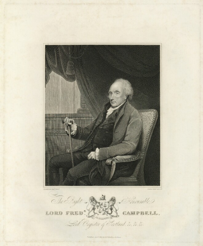 Lord Frederick Campbell, by James Stow, published by  George Perfect Harding, after  Henry Edridge, published 1817 - NPG D32569 - © National Portrait Gallery, London