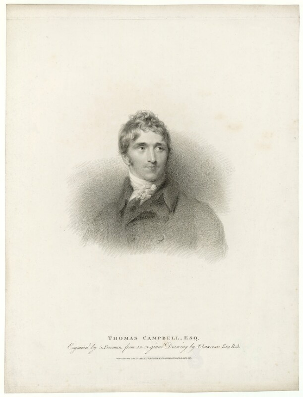 Thomas Campbell, by Samuel Freeman, after  Sir Thomas Lawrence, published 1812 - NPG D32571 - © National Portrait Gallery, London