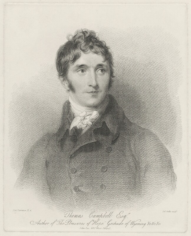 Thomas Campbell, by James Godby, after  Sir Thomas Lawrence, early 19th century - NPG D32572 - © National Portrait Gallery, London