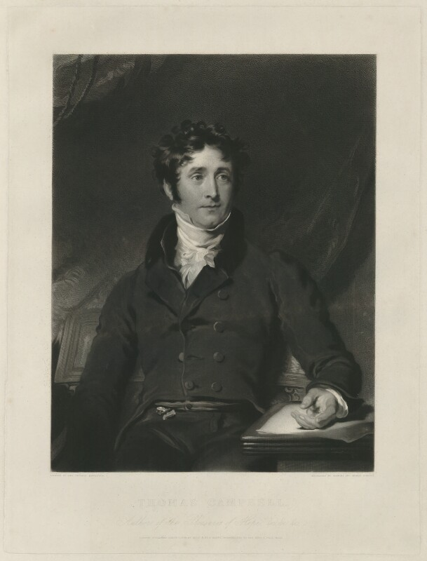 Thomas Campbell, by Samuel Cousins, and by  Henry Cousins, after  Sir Thomas Lawrence, published 1834 - NPG D32574 - © National Portrait Gallery, London