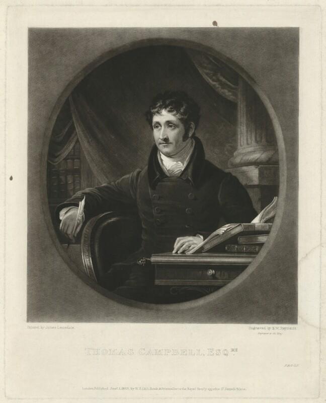 Thomas Campbell, by Samuel William Reynolds, after  James Lonsdale, published 1827 - NPG D32575 - © National Portrait Gallery, London