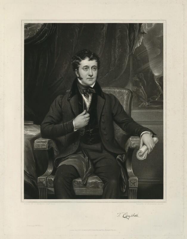 Thomas Campbell, by William Overend Geller, after  Thomas Clement Thompson, 1847 - NPG D32577 - © National Portrait Gallery, London