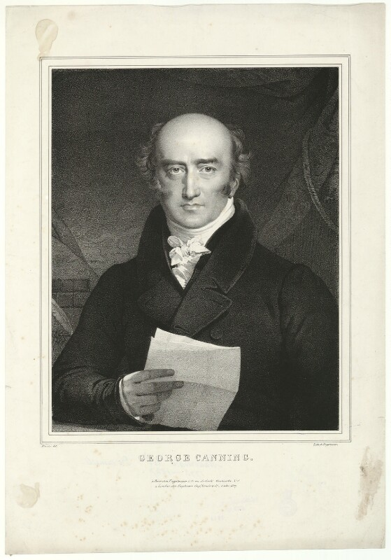 George Canning, by Antoine Maurin, or by  Nicolas Eustache Maurin, printed by  Engelmann, Graf, Coindet & Co, published by  Godefroy Engelmann, published 1827 - NPG D32586 - © National Portrait Gallery, London