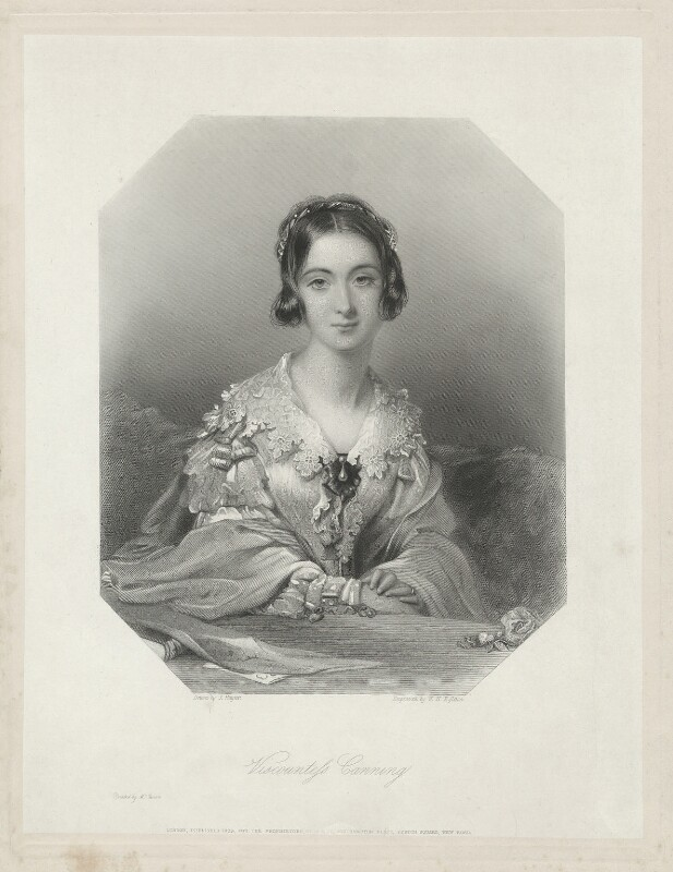 Charlotte Canning (née Stuart), Countess Canning, by William Henry Egleton, after  John Hayter, published 1839 - NPG D32589 - © National Portrait Gallery, London