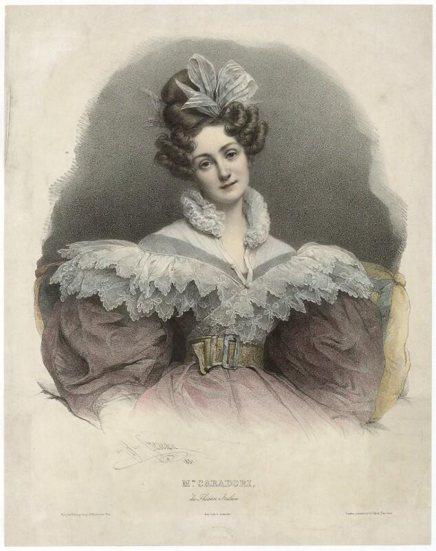 Maria Caterina Rosalbina Caradori-Allan, by Pierre Louis ('Henri') Grevedon, 1831 - NPG D32598 - © National Portrait Gallery, London