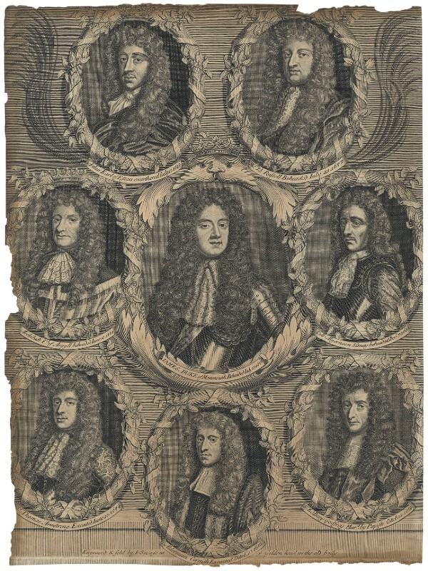 Politicians in the reign of King Charles II, by and sold by John Savage, late 17th century - NPG D29502 - © National Portrait Gallery, London