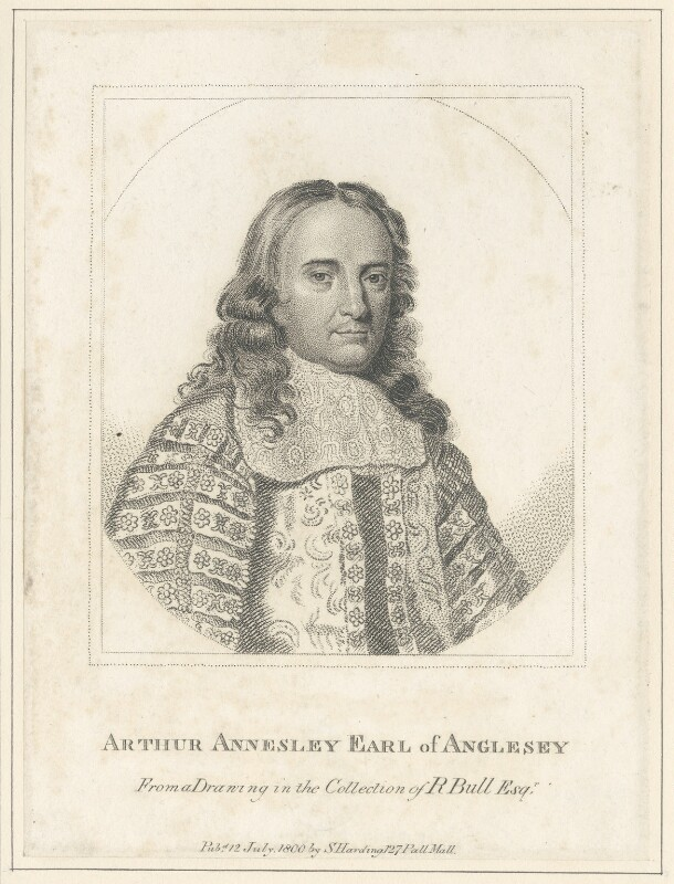 Arthur Annesley, 1st Earl of Anglesey, published by Silvester Harding, after  Unknown artist, published 1800 - NPG D29505 - © National Portrait Gallery, London