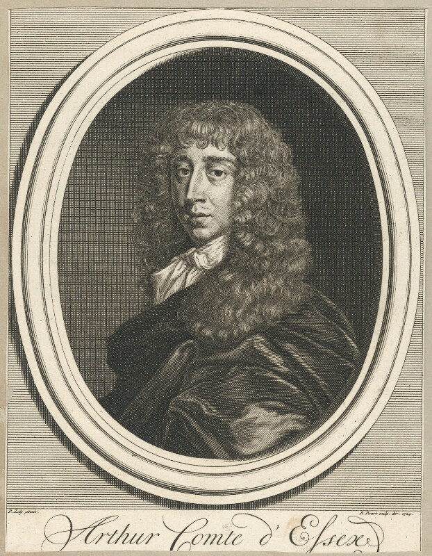 Arthur Capel, 1st Earl of Essex, by Bernard Picart (Picard), after  Sir Peter Lely, published 1724 - NPG D29507 - © National Portrait Gallery, London