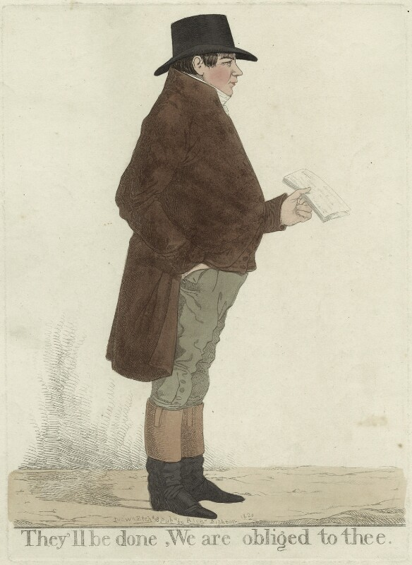 Samuel Gurney ('They'll be done, we are obliged to thee'), by and published by Richard Dighton, published 1820 - NPG D32607 - © National Portrait Gallery, London