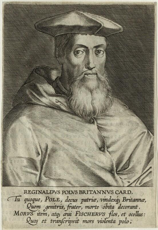 Reginald Pole, after Magdalena de Passe, and after  Willem de Passe, after 1620 - NPG D32616 - © National Portrait Gallery, London