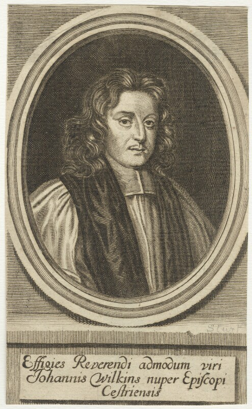 John Wilkins, possibly by John Sturt, after  Mary Beale, published 1691 - NPG D29557 - © National Portrait Gallery, London