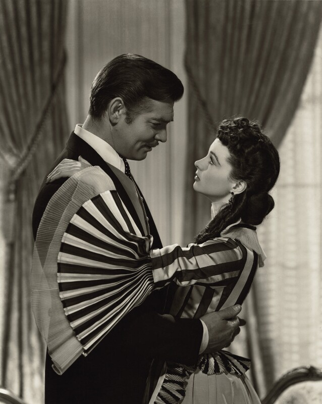 Clark Gable as Rhett Butler and Vivien Leigh as Scarlett O'Hara in 'Gone with the Wind', by Clarence Sinclair Bull, 1939 - NPG x35326 - © Clarence Sinclair Bull / Kobal Collection