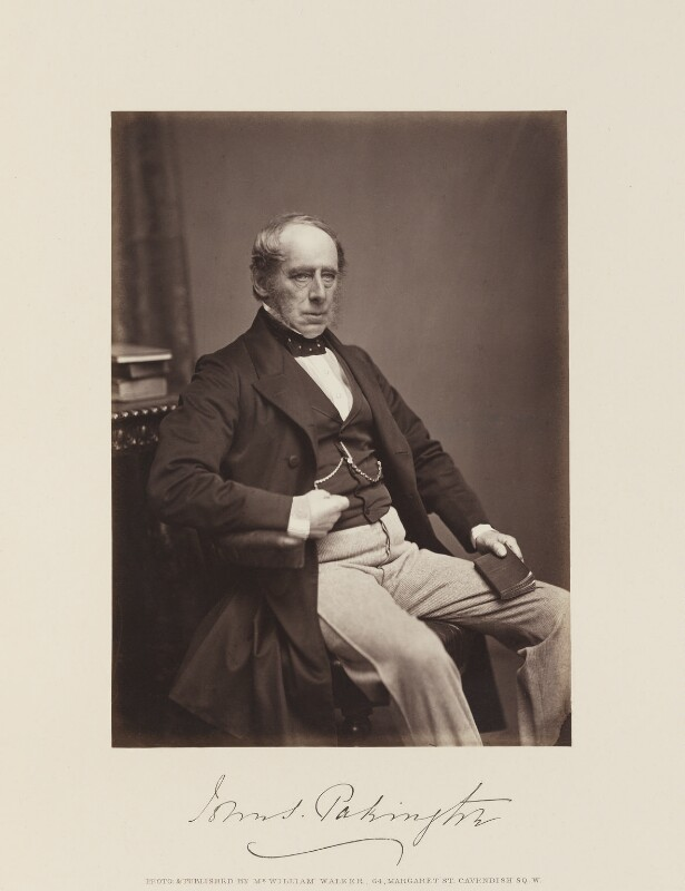 John Somerset Pakington, 1st Baron Hampton, by and published by William Walker, published 1867 - NPG Ax15849 - © National Portrait Gallery, London