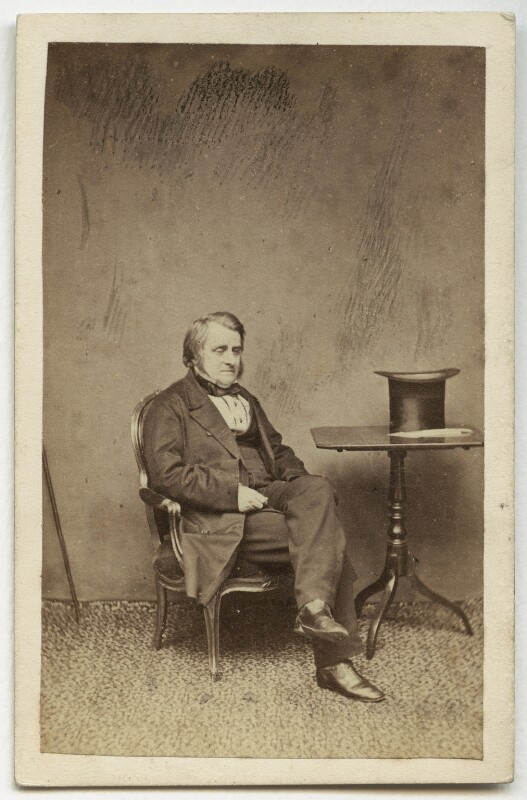 John Arthur Roebuck, by W. & D. Downey, early 1860s - NPG x12861 - © National Portrait Gallery, London