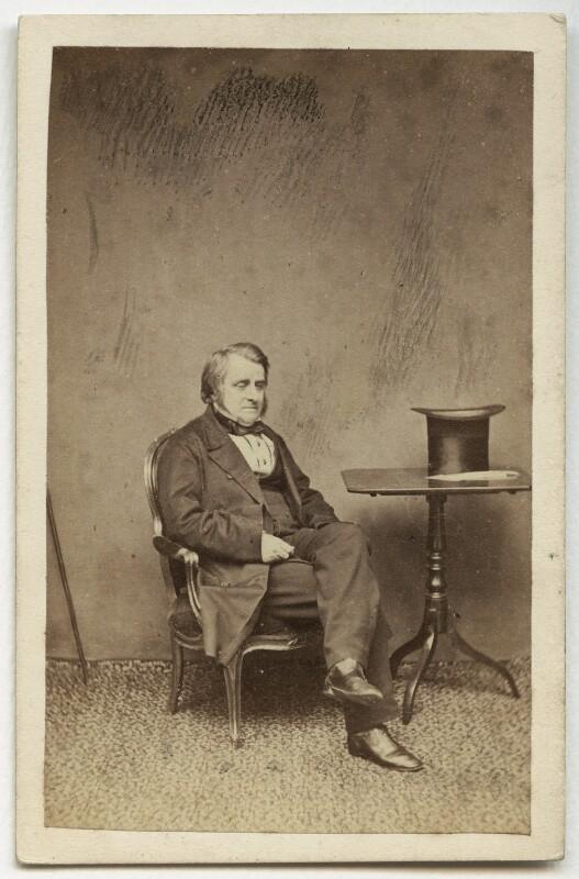 John Arthur Roebuck, by W. & D. Downey, early 1860s - NPG x12861 - © National Portrait Gallery, London
