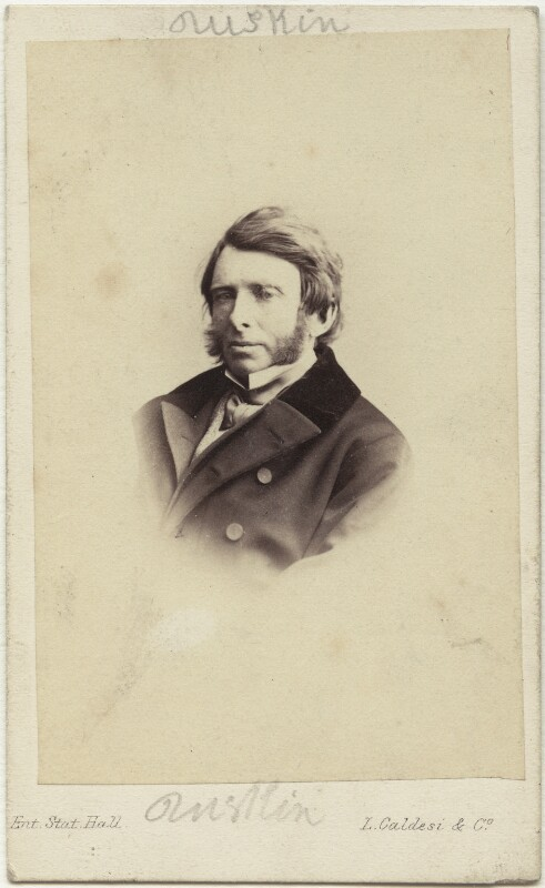 John Ruskin, by Leonida Caldesi, 1862 - NPG x12957 - © National Portrait Gallery, London