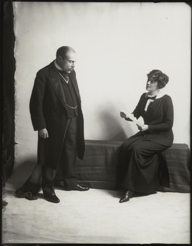 Edmund Gwenn; Irene Vanbrugh, by Bassano Ltd, 1911 - NPG x152715 - © National Portrait Gallery, London