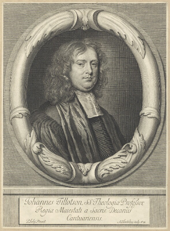 John Tillotson, by Abraham Blooteling (Bloteling), after  Sir Peter Lely, circa 1672-1690 (1672) - NPG D29582 - © National Portrait Gallery, London