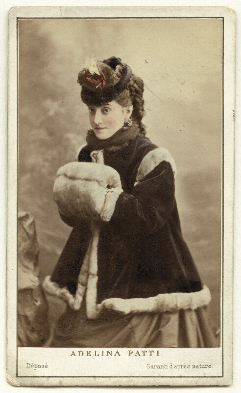 Adelina Patti, by Charles Reutlinger, 1870s - NPG x12682 - © National Portrait Gallery, London