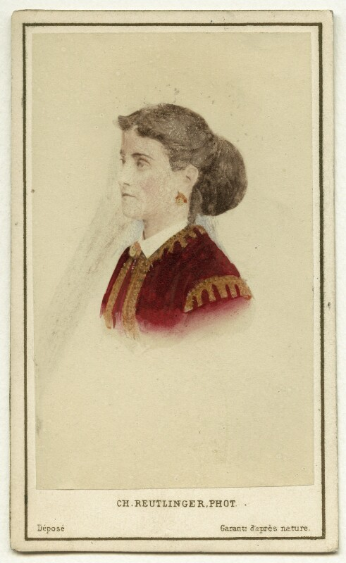 Adelina Patti, by Charles Reutlinger, mid 1860s - NPG x12684 - © National Portrait Gallery, London