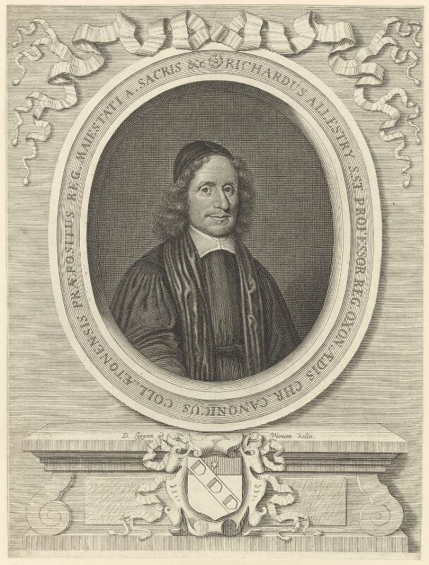 Richard Allestree, by David Loggan, circa 1684 - NPG D29600 - © National Portrait Gallery, London
