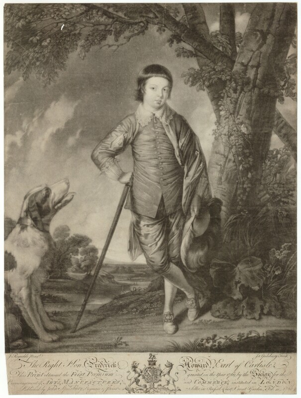 Frederick Howard, 5th Earl of Carlisle, by Jonathan Spilsbury, after  Sir Joshua Reynolds, published 1763 - NPG D32623 - © National Portrait Gallery, London