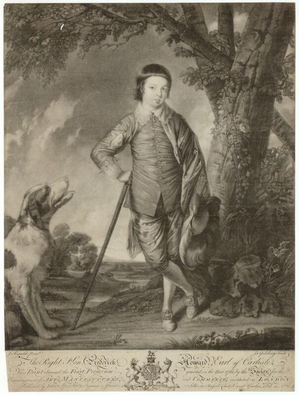 Frederick Howard, 5th Earl of Carlisle, by Jonathan Spilsbury, after  Sir Joshua Reynolds, published 1763 - NPG D32623 - © National Portrait Gallery, London