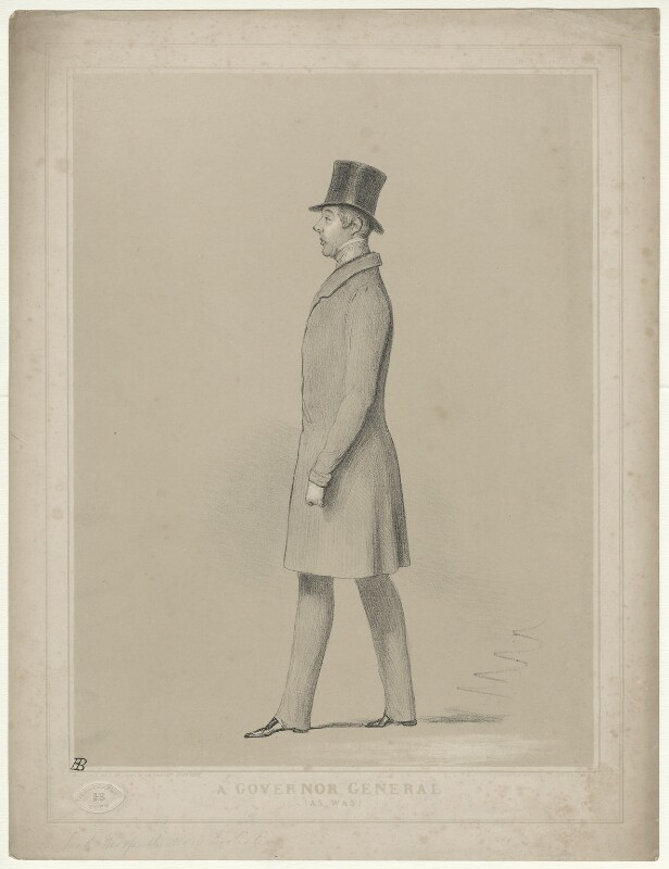 George William Frederick Howard, 7th Earl of Carlisle ('A Governor General (As Was)'), by John ('HB') Doyle, published 1842 - NPG D32628 - © National Portrait Gallery, London