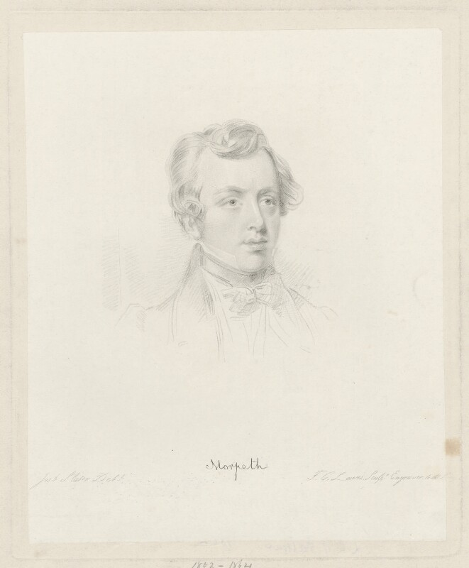 George William Frederick Howard, 7th Earl of Carlisle, by Frederick Christian Lewis Sr, after  Joseph Slater, 1830 or after - NPG D32629 - © National Portrait Gallery, London