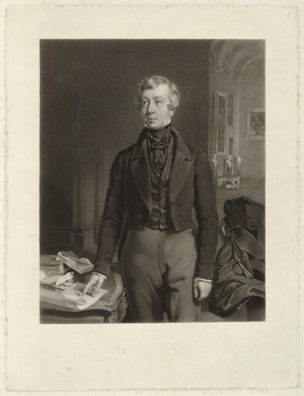 George William Frederick Howard, 7th Earl of Carlisle, by Samuel Bellin, after  Thomas Heathfield Carrick, published 1844 - NPG D32630 - © National Portrait Gallery, London