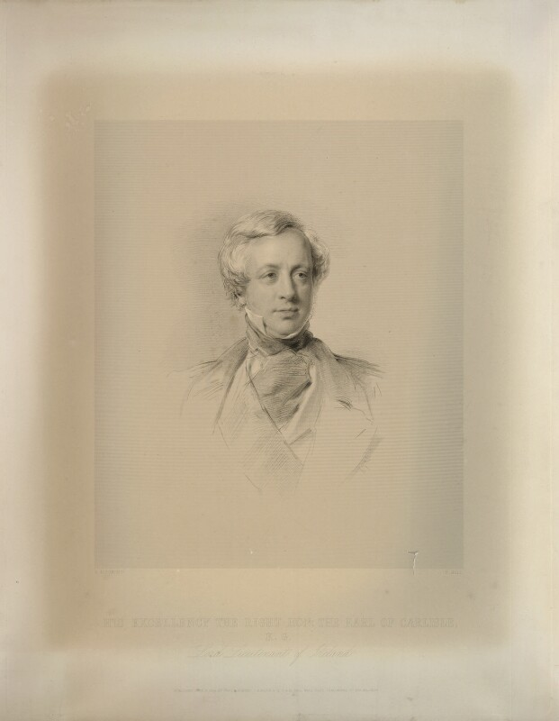 George William Frederick Howard, 7th Earl of Carlisle, by Francis Holl, after  George Richmond, published 1855 - NPG D32631 - © National Portrait Gallery, London