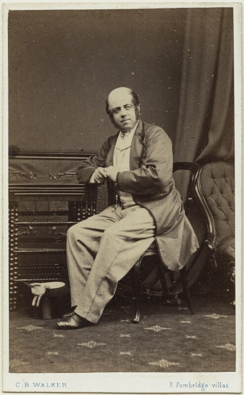 David Nunn Fisher as Mr Puffy in 'The Streets of London', by Charles Bristow Walker, 1864 - NPG x13817 - © National Portrait Gallery, London