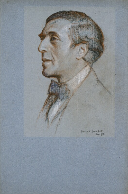 Humbert Wolfe, by William Rothenstein, 1931 - NPG 6831 - © National Portrait Gallery, London