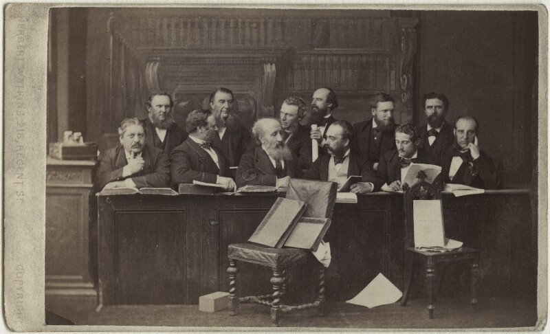 The Jury at the Tichborne Criminal Trial, by Herbert Watkins, 1873 - NPG Ax30398 - © National Portrait Gallery, London