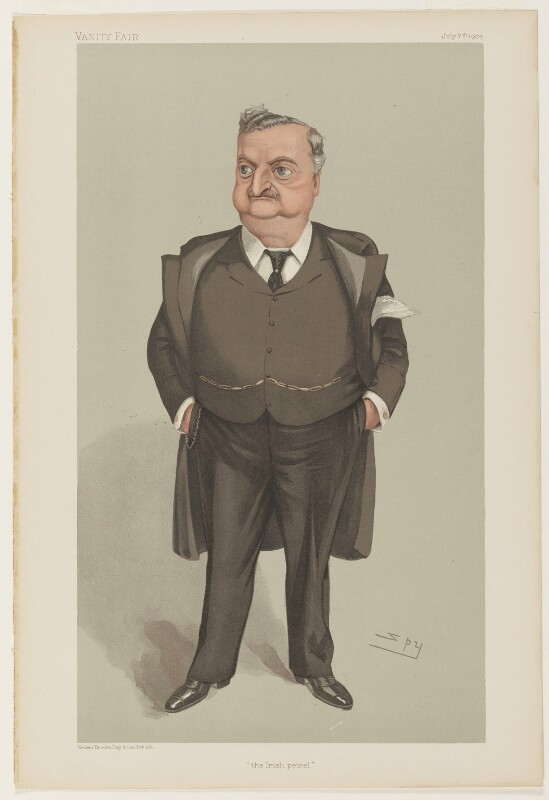 John Edward Redmond ('the Irish petrel'), by Sir Leslie Ward, printed by  Vincent Brooks, Day & Son, published 7 July 1904 - NPG D32636 - © National Portrait Gallery, London