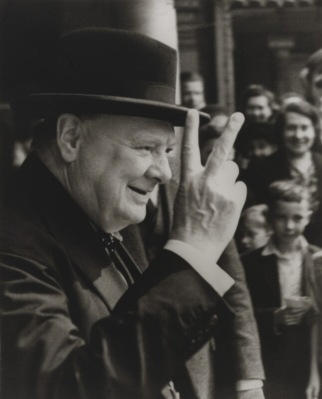 Winston Churchill, by Robert Elliot, 26 July 1943 - NPG x17071 - © estate of Robert Elliot / National Portrait Gallery, London