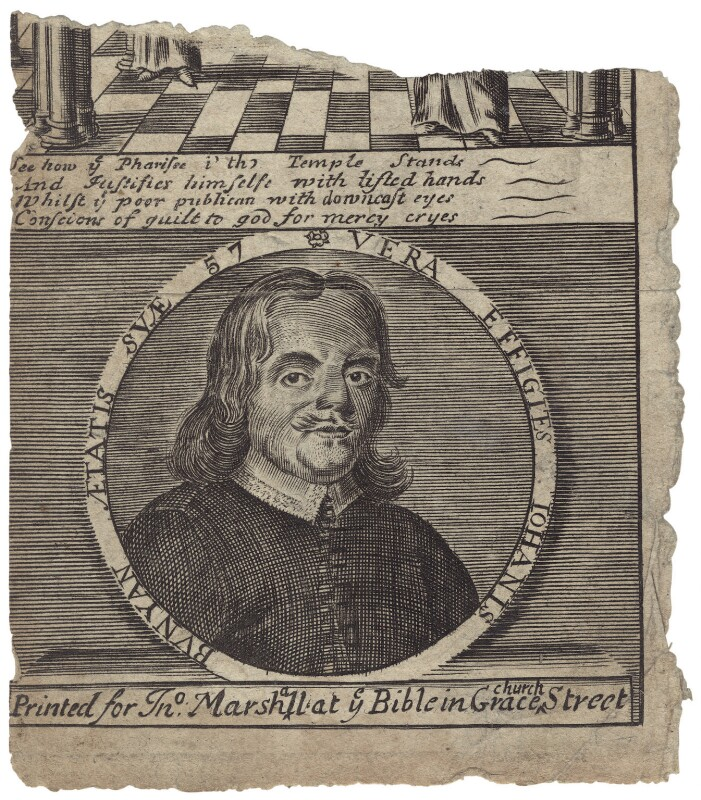 John Bunyan, after Unknown artist, mid to late 17th century - NPG D29791 - © National Portrait Gallery, London