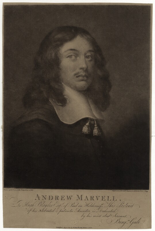 Andrew Marvell, by John Raphael Smith, after  Unknown artist, published 1802 - NPG D29834 - © National Portrait Gallery, London