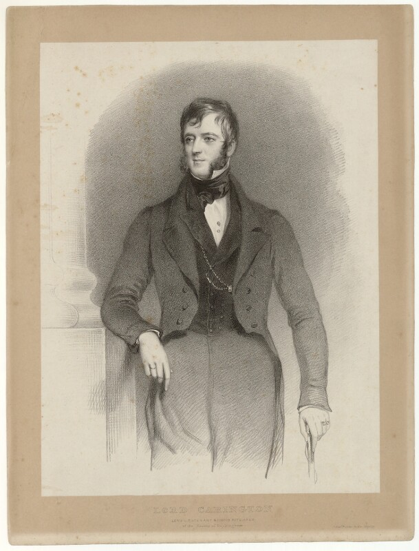 Robert John Carington (né Smith), 2nd Baron Carrington, by Richard James Lane, circa 1825-1850 - NPG D32707 - © National Portrait Gallery, London