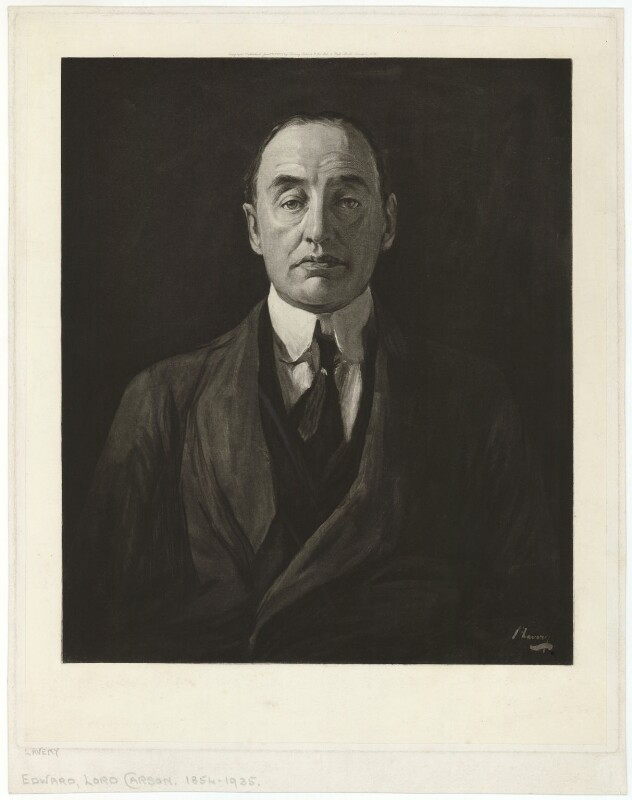 Edward Henry Carson, 1st Baron Carson, after Sir John Lavery, published 1917 - NPG D32710 - © National Portrait Gallery, London