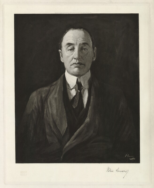 Edward Henry Carson, 1st Baron Carson, after Sir John Lavery, published 1917 - NPG D32711 - © National Portrait Gallery, London