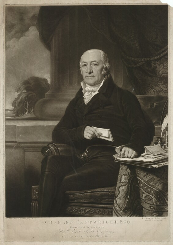 Charles Cartwright, by Thomas Hodgetts, after  George Francis Joseph, early 19th century - NPG D32718 - © National Portrait Gallery, London