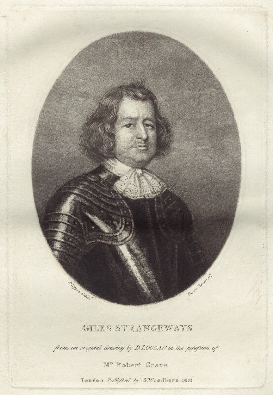 Giles Strangeways, by Charles Turner, after  David Loggan, published by  Samuel Woodburn, published 1811 - NPG D29907 - © National Portrait Gallery, London