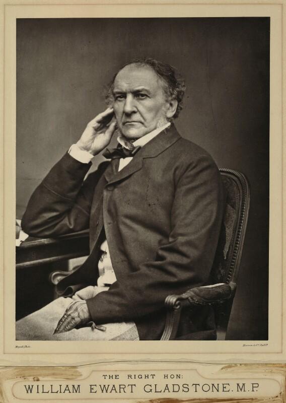 William Ewart Gladstone, by John Jabez Edwin Mayall, 1860s - NPG x87317 - © National Portrait Gallery, London