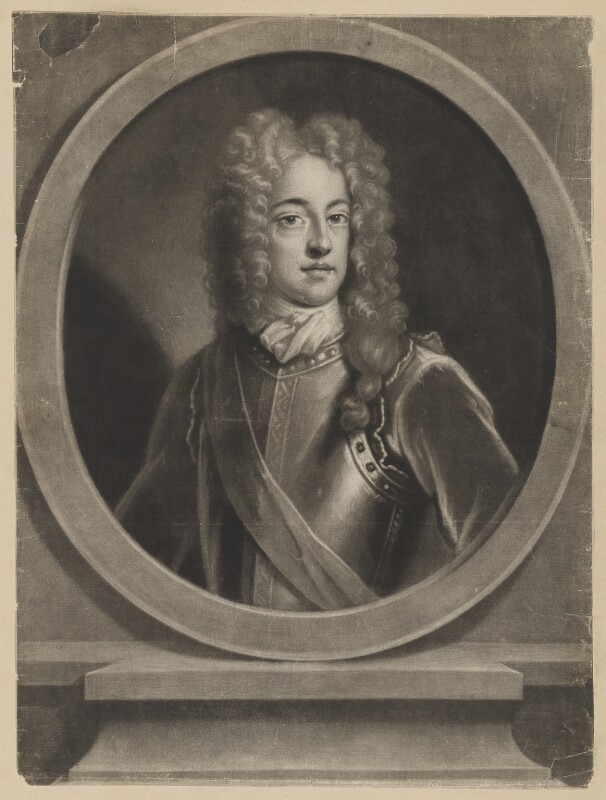 Prince James Francis Edward Stuart, probably by John Simon, after  Unknown artist, early 18th century - NPG D32658 - © National Portrait Gallery, London